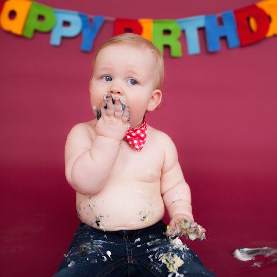One Year Cake Smash Photography Minneapolis Minnesota